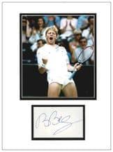 Boris Becker Autograph Signed Display