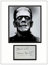 Boris Karloff Autograph Signed - Frankenstein
