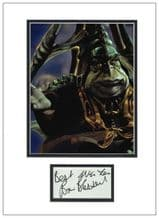 Brian Blessed Autograph Signed Display - Boss Nass