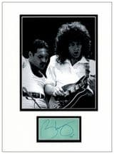 Brian May Autograph Signed Display - Queen
