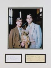 Brideshead Revisited Autograph Display - Irons & Andrews