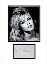 Brigitte Bardot Autograph Signed Display
