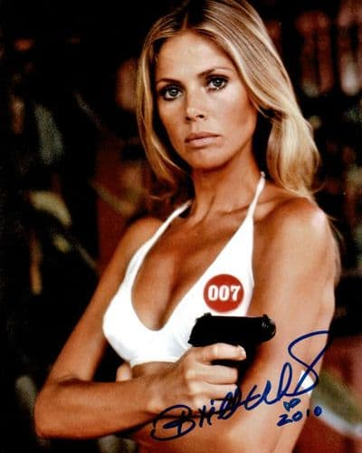 Britt Ekland Autograph Signed - James Bond