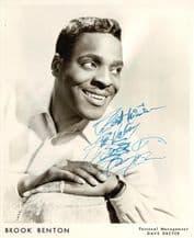 Brook Benton Autograph Signed Photo