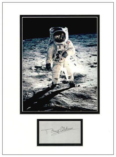 Buzz Aldrin Autograph Signed Display
