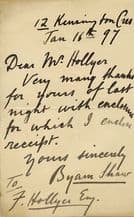 Byam Shaw Autograph Letter Signed SOLD