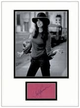 Carly Simon Autograph Signed Display