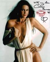 Caroline Munro Autograph Photo - Lipstick Kiss - James Bond