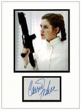 Carrie Fisher Autograph Display - Princess Leia