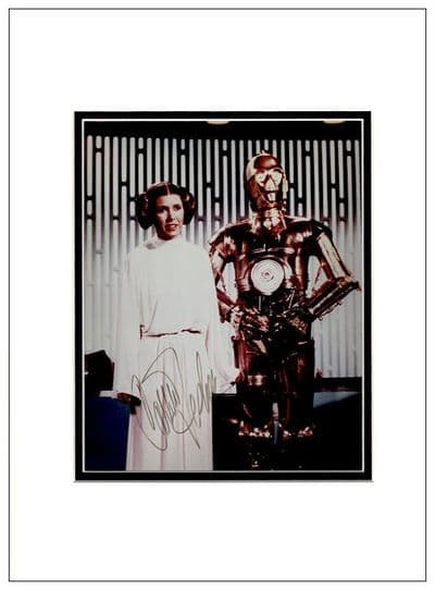 Carrie Fisher Autograph Photo - Star Wars