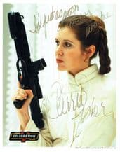 Carrie Fisher Autograph Signed Photo - Princess Leia