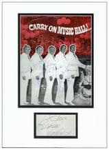 Carry On Cast Autograph Signed Display