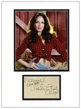 Catherine Bach Autograph Display - Dukes of Hazzard