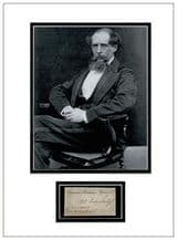 Charles Dickens Autograph Signed Display