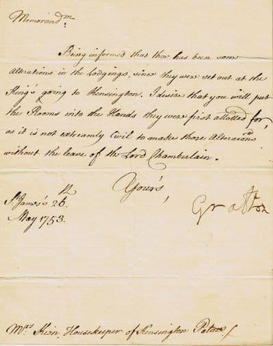 Charles FitzRoy Letter Signed - Duke of Grafton