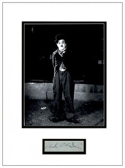 Charlie Chaplin Authentic Autograph Signed Display For Sale