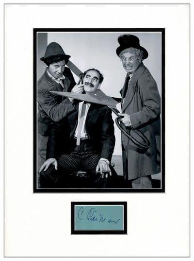 Chico Marx Authentic Autograph For Sale