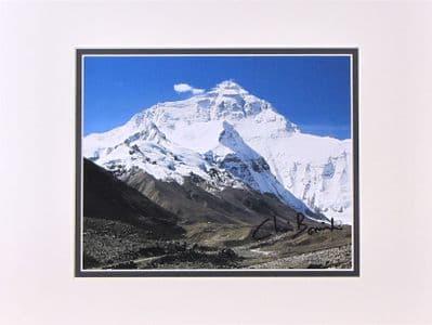 Chris Bonington Autograph Photo - Everest