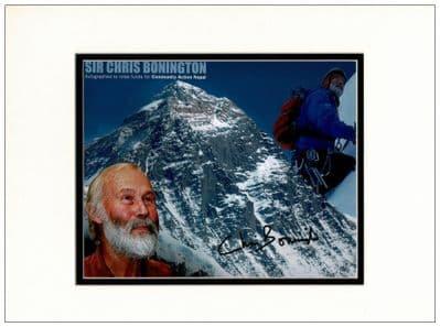 Chris Bonington Autograph Signed Photo For Sale