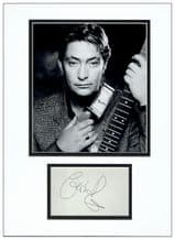 Chris Rea Autograph Signed Display