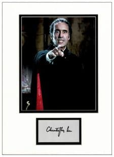 Christopher Lee Autograph - Dracula