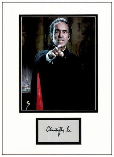 Christopher Lee Autograph - Dracula