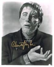 Christopher Lee Autograph Signed Photo - Frankenstein