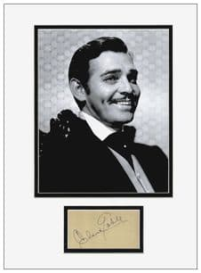 Clark Gable Autograph Signed Display - Gone With The Wind