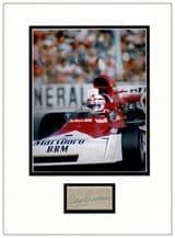 Clay Regazzoni Autograph Display