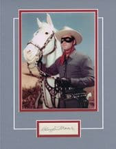 Clayton Moore Autograph Signed - The Lone Ranger