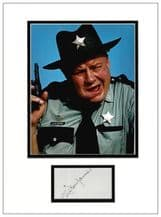 Clifton James Autograph Display  - Live and Let Die