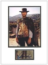 Clint Eastwood Autograph Signed Display