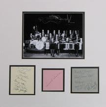 Count Basie Orchestra Autograph Signed Display