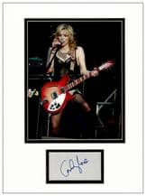 Courtney Love Autograph Signed Display