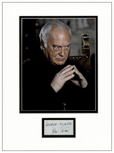 Curd Jurgens Autograph Signed Stromberg James Bond For Sale
