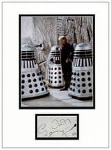 Cy Town Autograph Signed Display - Dr Who