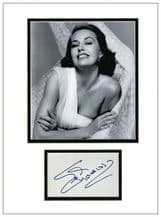 Cyd Charisse Autograph Signed Display