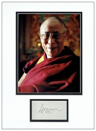 Dalai Lama Autograph Display