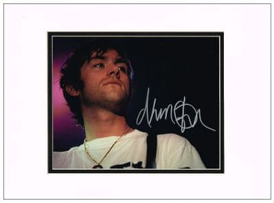 Damon Albarn Autograph Signed Photo - Blur