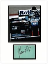 Damon Hill Autograph Signed Display