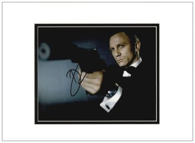 Daniel Craig Signed Photo - James Bond