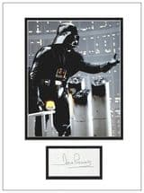Darth Vader Autograph Display - Dave Prowse