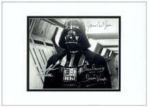 Darth Vader Autograph Signed Photo - Dave Prowse, James Earl Jones & Jake Lloyd