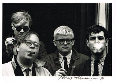 David Hockney Autograph Signed Photo