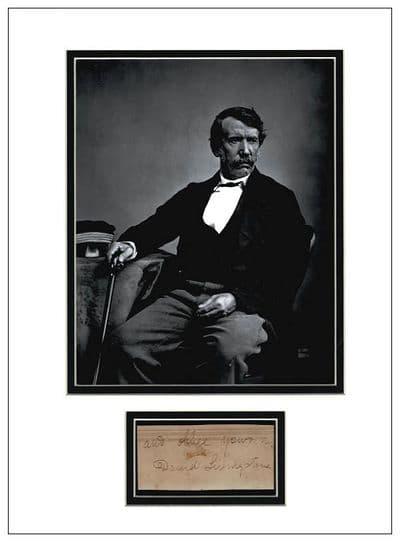 David Livingstone Autograph Signed Display