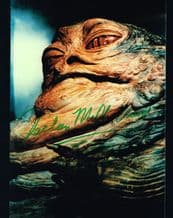 Declan Mulholland Autograph Signed Photo - Jabba the Hutt