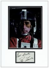 Denis Lawson Autograph Signed Display - Wedge Antilles