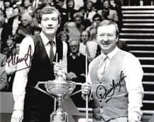 Dennis Taylor Steve Davis Autograph Signed Photo - Snooker