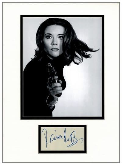 Diana Rigg Autograph Display - The Avengers