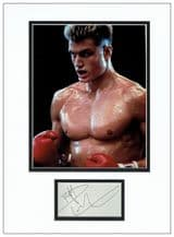 Dolph Lundgren Autograph Signed display - Rocky